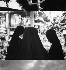 Totem 29 (Nuns), 2014, Selenium-toned Gelatin Silver Print triptych, edition of 5, 26 x 54 inches framed, edition of 5
