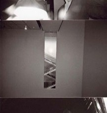 Totem 35 (Stairwell), 2007, Selenium-toned Gelatin Silver Print triptych, edition of 5, 26 x 54 inches framed, edition of 5