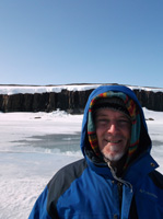 On Location Photographing, Standing on the Frozen Arctic Ocean, Near Kugluktuk, Nunavut, Canada, 2014