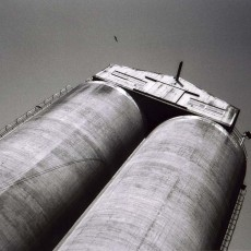 Silos and Gull, from Industrial Districts, 2004, Gelatin Silver Print, 20 x 24 inches, edition of 9.